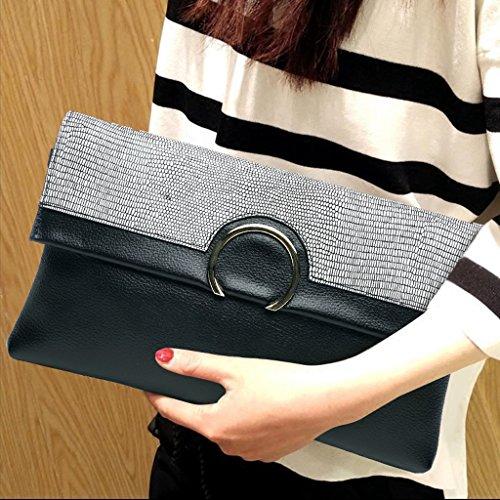 Home Monopoly Borsa a tracolla femmina femmina a grande capacità Borsa a tracolla semplice con borsa a tracolla ( Colore : Dark gray stripes ) White pearl pattern