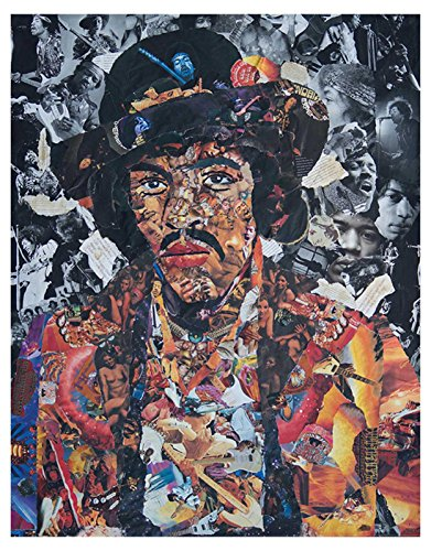 Jimi Hendrix Poster Vintage Ripped Up Pictures Montage offiziell Nue 75cm x 59cm (Jimi Hendrix Hoodies)