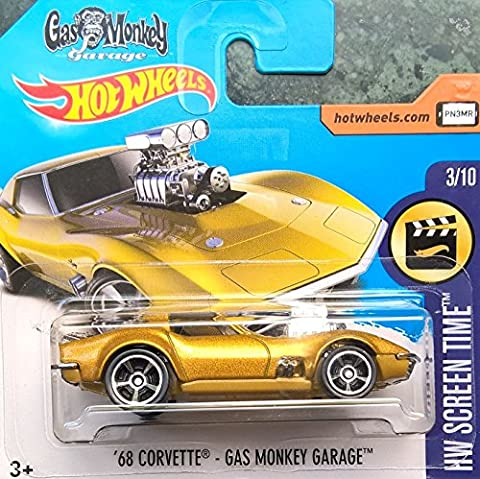 HOT WHEELS® Corvette - Historric Car ''Gas Monkey Garage'' 1968 - 1:64 - gold metallic