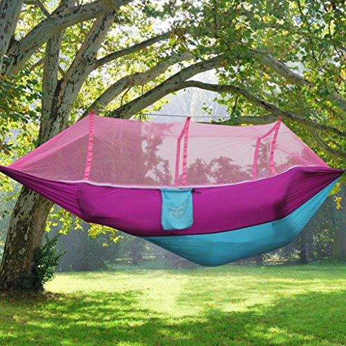 Ren Chang Jia Shi Pin Firm Outdoor Hängematte Camping Schaukel Anti-Roll-Fallschirm Tuch 200 * 150cm (Color : Pink 2)