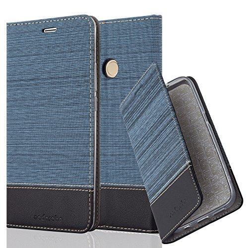Cadorabo Funda Libro para Xiaomi Mi MAX 2 en Azul Oscuro Negro - Cubierta Proteccíon con Cierre Magnético, Tarjetero y Función de Suporte - Etui Case Cover Carcasa
