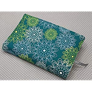 Buchhülle Buchumschlag Taschenbuch A5 Notizhülle Grünes Mandala