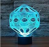 3D LED Lampe Licht USB-abstrakten Nacht licht bunt Lava Lampe für Hochzeit Deco Innovative Weihnachtsgeschenk vorhanden