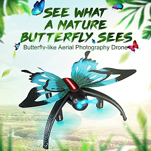 ECLEAR Mini Foldable RC Drone RTF WIFi with 480P HD Digicam four Channel 2.4GHz 6-Axis Gyro 3D Roll Distant Management Quadcopter Butterfly Toys For Grownup Youngsters Aerial Pictures Racing