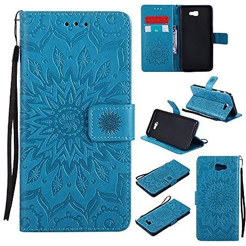 For Samsung Galaxy J7 Prime Case [Blue],Cozy Hut [Wallet Case]