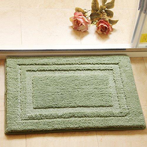XQY Gepolsterte Fußmatten Tür Matte Bad Saugmatten Badematten Schlafzimmer Küchenmatten Teppiche,Hellgrün,50 × 80 -