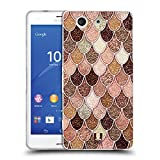Head Case Designs Rose-Gold Meerjungfrau Waage Muster Soft Gel Hülle für Sony Xperia Z3 Compact / D5803
