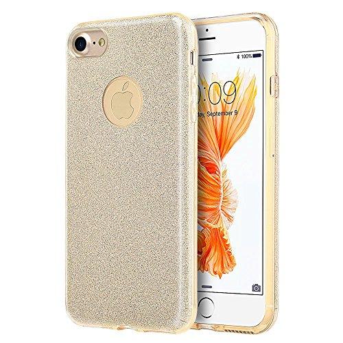 APPLE IPHONE 7 STARRY DAZZLE LUXURY TPU COVER CASE - GOLD-CSIP7-UDZ-GO