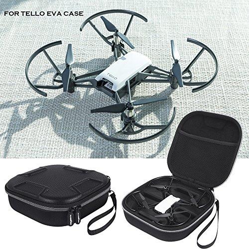 LichiFit Schutz-, Trage- und Aufbewahrungstasche für Ryze Robotics DJI Tello FPV-Drohne / Mini-Quadrocopter, PU-Kunstleder und EVA-Material, inkl. Trageschlaufe