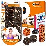 Die blackroll-orange Faszien ORANGE-BOX: für ein Abwechslungsreiches Training mit großer und kleiner Faszienrolle, Massagebällen, Faszien Ratgeber, Postern, Booklet und DVD inklusive. Qualität Made in Germany.