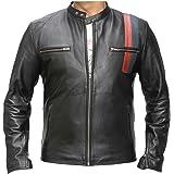 Classyak Men's Fashion Night Rider Moto Jacket Black