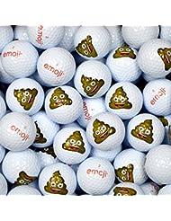 Emoji EMGBB006 Lot de 48 Balles de Golf Mixte Adulte, Blanc, N/A