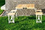 Picknickbank, Holz Aluminium, klappbar