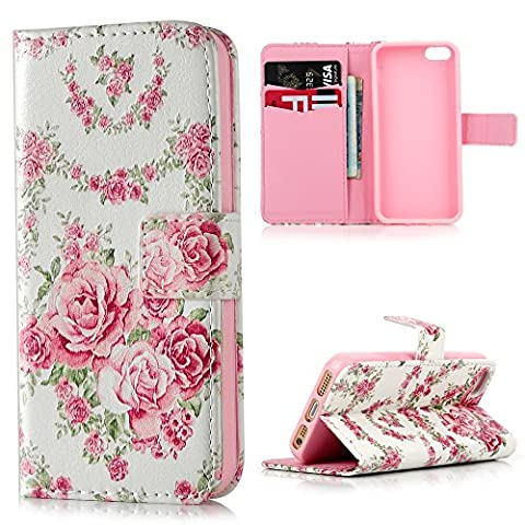 Lanveni iPhone SE 5S 5 Flip Stand Phone Case Cover ,3D Colorful Painting Premium PU Leather Wallet Handset Shell Bookstyle Cellphone Skin Pouch & Magnetic Closure & Card Slots Protective Pocket For iPhone SE & iPhone 5S & iPhone 5 Handphone