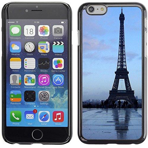 Graphic4You Paris At Night Skyline View Postkarte Ansichtskarte Design Harte Hülle Case Tasche Schutzhülle für Apple iPhone 6 Plus / 6S Plus Design #2