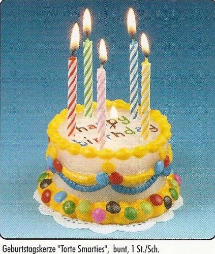 Kerze Geburtstagstorte- auf Papieruntersetzer
