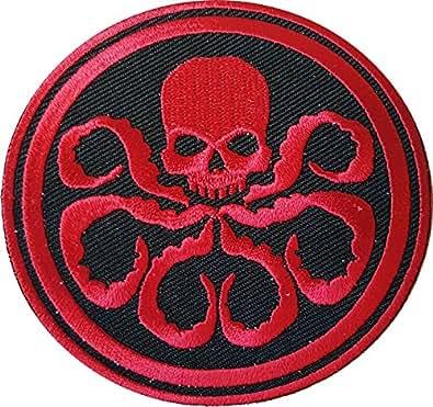 """Velcro Captain America HYDRA/tête de mort Rouge brodé rouge 3 """"Movie Patch"""