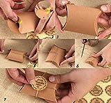 100x Kraftpapier Tüten Freudentränen Hochzeit Gastgeschenke Absofine Vintage-Stil Geschenkboxen 7x9cm mit Juteschnur 60M und Freundentränenstricker Aufkleber 100xØ 3,5cm für Geschenk Party - 8