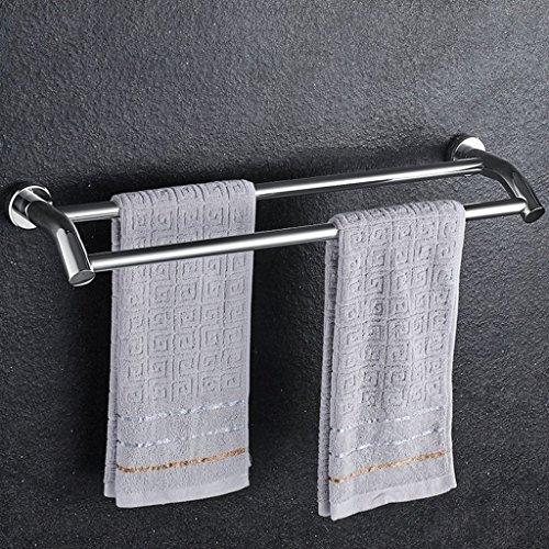 MOMO 304 Edelstahl-Badezimmer-Handtuchhalter-Tuch-Regal-Tuch-Halter-Hotel-Schienen-Regal, Doppelruten,40 cm Badezimmer Handtuch Rack Stehen