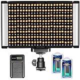Neewer Kit de LED Lampe Vidéo Dimmable Bicolore sur Caméra, 280 LED Ampoules, 3200-5600K, CRI 95+, pour Photographie de Portrait et de Produit, Studio, Tournage de YouTube Vidéo Extérieure