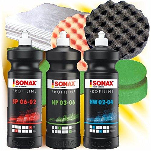 Sonax Profiline Auto Schleifpaste Politur Wachs 250 ml Set S2 -250
