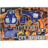 Planet of Toys Police Agent Suit Pretend Play Game Set with 11 Accessories for Kids/Children