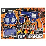 #8: Planet of Toys Police Agent Suit Pretend Play Game Set with 11 Accessories for Kids/Children