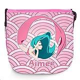 Umhängetasche für Kinder mit Namen Aimee und schönem Motiv mit Meerjungfrau , rosa / pink |...