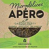 Microdélices Insectes Comestibles Apéro 250 Garden Party Mélange de Grillons/Vers de Farine 10 g -