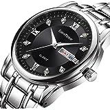 EuroTime Men's Luxury Wrist Watch SSB, Stainless Steel Strap,3ATM Quartz Waterproof Mens Watch