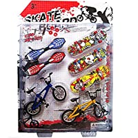Autone 8Pcs Tech Deck Finger Bike Bicycle And Skateboard Kids Children Wheel Toys Gifts