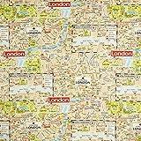 Fabulous Fabrics Dekostoff Ottoman London Map - beige -