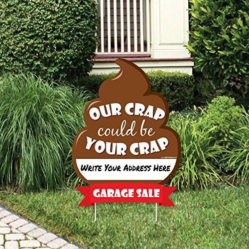 Big Dot of Happiness Funny Garage Verkauf-Unsere Crap kann die Crap Schild-Garage Verkauf Zeichen für Yard mit Einsatz