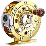 Zorbes BF600 Portable Aluminum Cut Fly Fishing Vessel Reels Gold Disk Drag with Retail Box