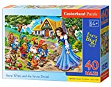 Castorland B-040247-1 Snow White and The Seven Dwaefs Puzzle, 40 Teile Maxi