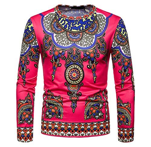 Luckycat Herren Herbst Winter Casual afrikanischen Stammes Dashiki Langarm Pullover Top Bluse Mode 2018