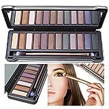 Ombretti Set di set di trucco della gamma di Colorii dell'ombra di occhio Set Make Up Box professionale, KRABICE Ultra Flawless 12 Palette Ombretti