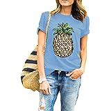 Haola Camiseta de manga corta de verano, urbana, con diseño impreso divertido para mujeres