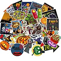 UCLEVER Halloween Stickers 100 PCS Self Adhesive Waterproof Vinyl Decal Graffiti Stickers for Happy Halloween Party Decoration