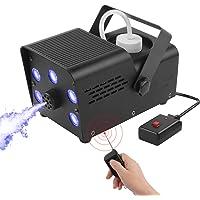 Nebelmaschine, UKing LED Nebelmaschine mit Aufforderung zum Abschluss des Aufwärmens, Dual-Fernbedienung 550 WATT Stabil…