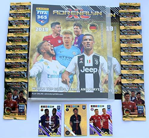 Panini Adrenalyn XL FIFA 365 2019 - Sammelmappe + 20 Booster + Limited Edition Neymar + 2 x Sonderkarte