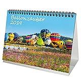 Ballonzauber · DIN A5 · Premium Tischkalender/Kalender 2019 · Heißluftballon · Ballon · Sport · Zeppelin · Flug · Himmel · Berge · Natur · Edition Seelenzauber