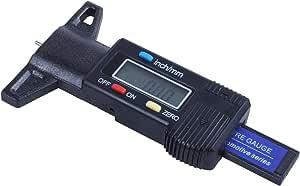Retyly Digital Tiefenmesser Messchieber Profiltiefenmesser Lcd Reifen Profilmesser Auto