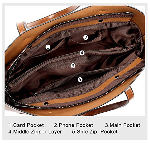 Sacchetti eleganti per la borsa della borsa della borsa di Yoome per le donne Donne Borse della borsa della borsa delle signore Borse del sacchetto del sacchetto della borsa - Borgogna Marrone