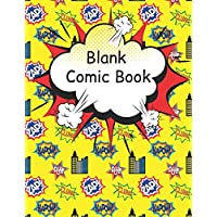 Blank Comic Book: Large pages for kids with a variety of templates. Draw your own amazing comics and write exciting stories. Cartoon sketch book gift idea,