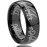 BOMSI The One Ring Lord The Rings Style Tungsten Ring Gold Color Lord Rings محفور بالليزر
