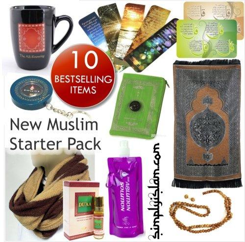 simplyislam.com New Muslim Starter Pack Geschenk 10Bestseller-Artikel