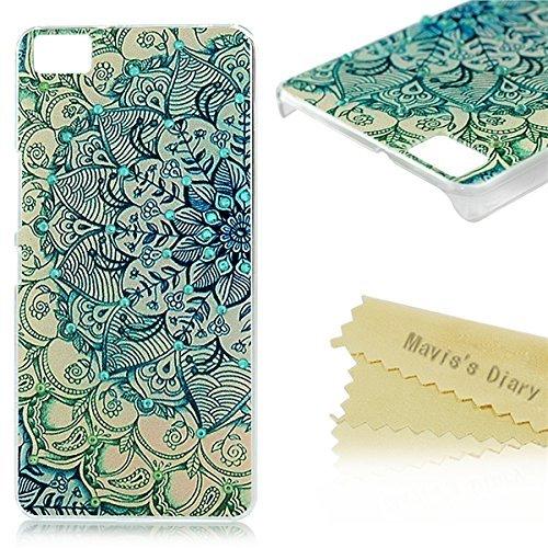 bq Aquaris M5 Funda de Crystal PC Case Dura Transparente - Mavis's Diary® Funda para móvil Carcasa Resistente a los Arañazos Diseño de Totem Flor