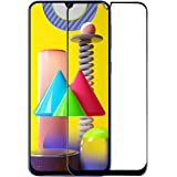 Amazon Brand - Solimo Full Body Tempered Glass for Samsung Galaxy M31 Prime / M31 / F41 (Black) with Installation kit