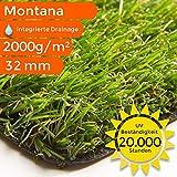 Highclass Kunstrasen Montana | bis 5 m Breite!!! | Ideal zum Selbstverlegen auf Balkon, Terrasse und im Garten, Größe: 200x300 cm